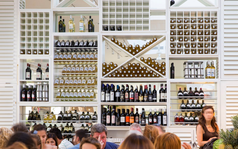 Ginger wine list and wine wall